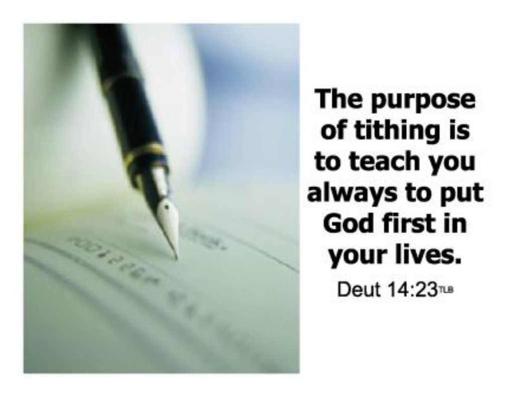 give god his tithe it 39 s all about yeshua