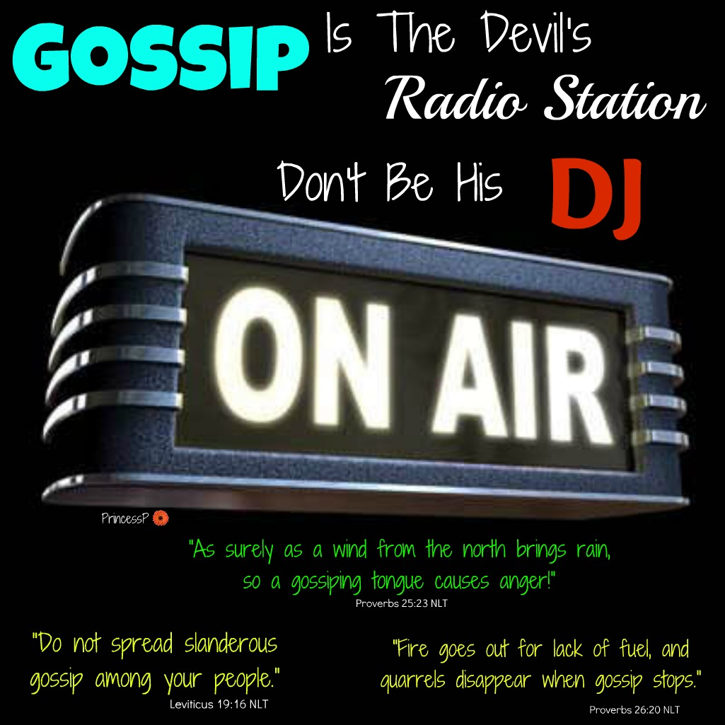 what does the bible say about gossip it s all about