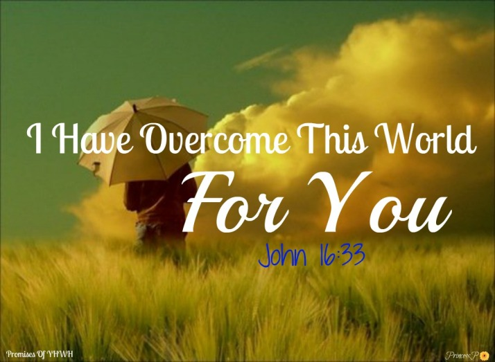I Have Overcome This World For You